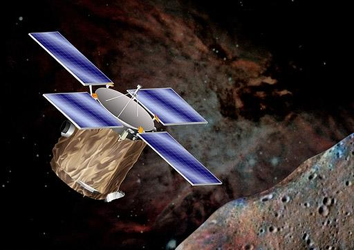 NASA's NEAR spacecraft received a larger boost from Earth's gravity when it flew by in 1998 than expected, an anomaly also seen with other spacecraft that has yet to be explained (Illustration: NASA)