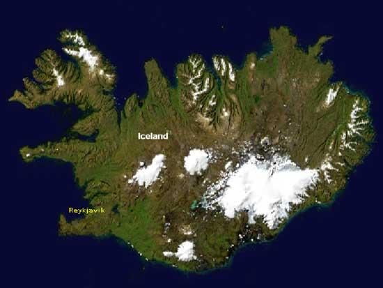 Vatnajökull in the south-east is the largest ice cap in Iceland and conceals several volcanoes