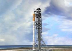 Initial designs for the Ares I rocket, designed to carry a crew capsule with astronauts, might have led to fatal vibrations on the launchpad (Illustration: NASA/MSFC)