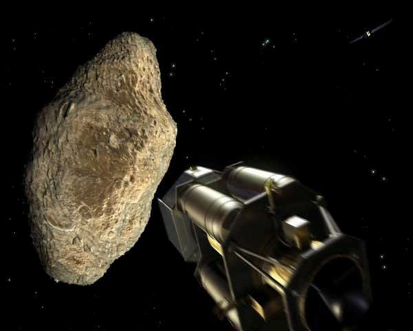 The threat of asteroid impacts on Earth has inspired some ideas for using spacecraft to deflect them (Illustration: ESA)