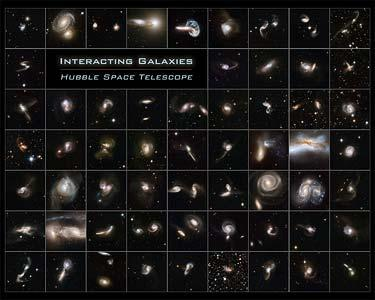 The gallery of 59 interacting galaxies is the largest collection of Hubble images ever released together