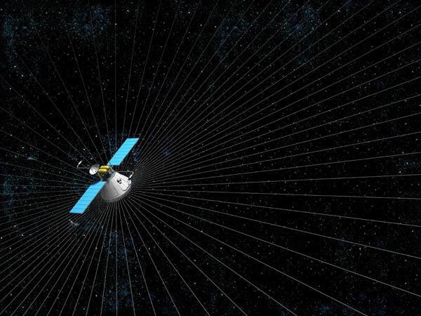 The new solar sail resembles a spider web (Illustration: Allt om vetenskap/alltomvetenskap.se)