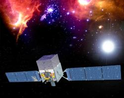 GLAST will scrutinise the sky in poorly-explored regions of the gamma-ray spectrum (Illustration: NASA)
