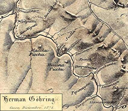 An 1877 book by German geologist Herman Göhring, lost for many years, contained this map, dated 1874. It clearly indicates two peaks,