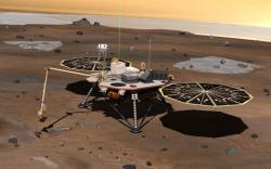 Microbes on Phoenix might have survived the trip to Mars, but the lander's robotic arm, which will likely make contact with water ice, was carefully sterilised and protected by a 'biobarrier' film until the probe landed