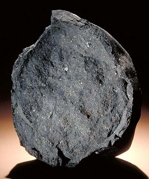 The Murchison meteorite contains the building blocks of DNA and RNA, which may have an extraterrestrial origin (Copyright: Chip Clark/Smithsonian Institution/www.si.edu)