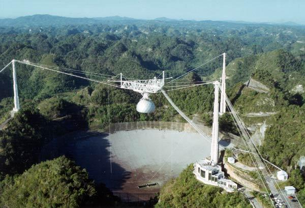 The Arecibo telescope in Puerto Rico recently joined the e-VLBI network, which combines data from different telescopes in real time