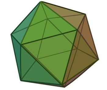 The five-fold symmetry of icosahedral structures means they cannot form the regular 3D crystal  lattices characteristic of solids