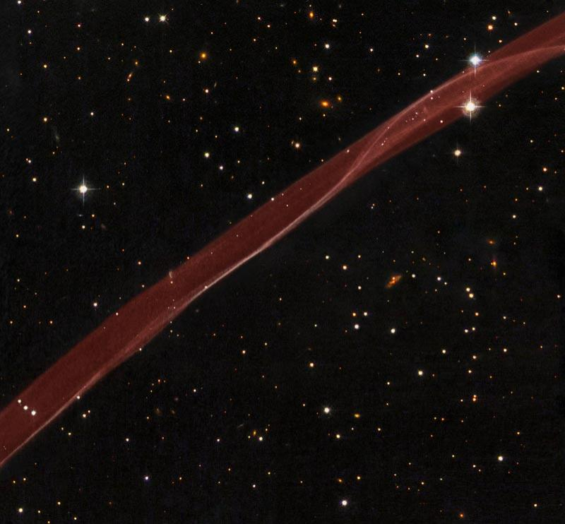 The Hubble Space Telescope has captured a close-up of the expanding remnants of a supernova observed in 1006 CE