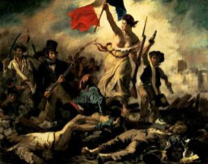 Liberty Leading the People by Eugène Delacroix is strongly linked to the French Revolution