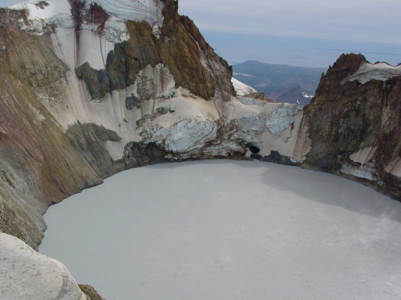 Mount Chiginagak's acidic crater lake