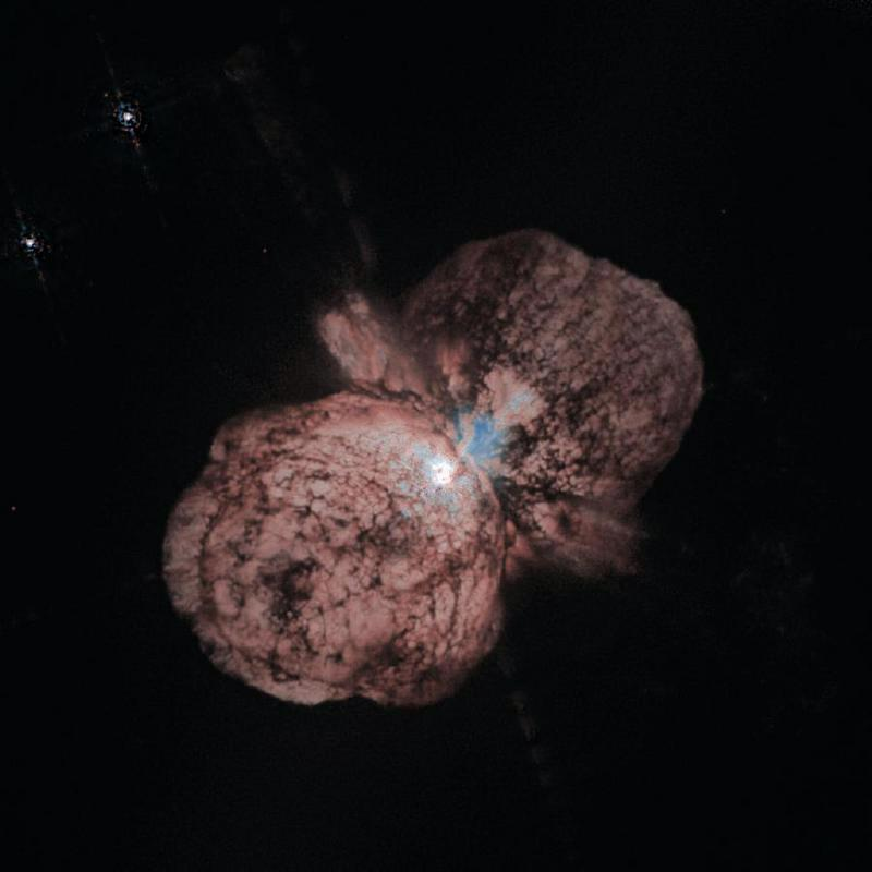 The nearby star Eta Carinae is still recovering from an explosion in 1843 that created the twin Homunculus Clouds