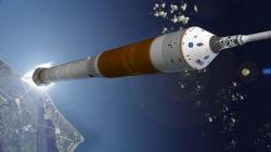 The Ares I rocket now in development will launch the Orion crew capsule to orbit (Illustration: NASA)