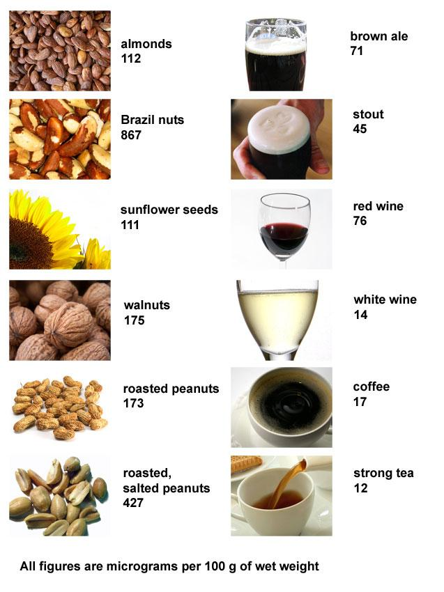 Phytoestrogen content of common foodstuffs (micrograms of phytoestrogen per 100 grams)