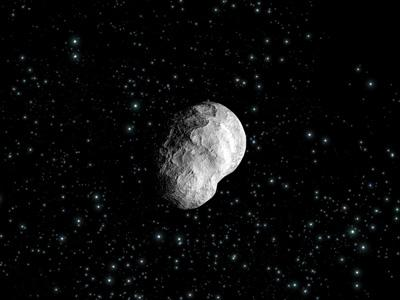 Close-up pictures of asteroid Steins will help reveal its shape, composition and age (Artist's impression: ESA/C Carreau)