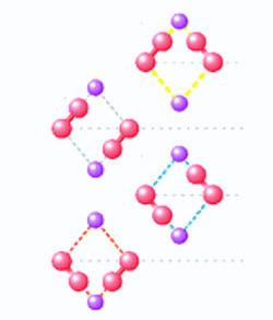 A pair of pinball flippers, made from just two platinum atoms and controlled by streaming electrons, can adopt four different positions