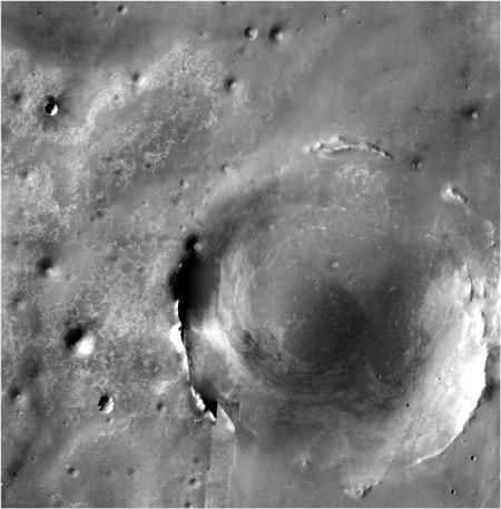 NASA's Opportunity rover emerged from the Victoria crater earlier this month. The probe will begin a two-year trek to the edge of Endeavour, a much larger crater that sits 12 kilometres away.