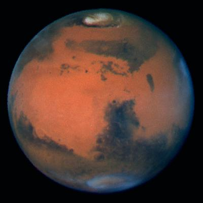 The strong magnetic field in Mars's southern hemisphere could be the result of the impact of a huge object at higher latitudes