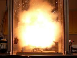 Loud laboratory bangs like this one were used to develop a new kind of thermometer tough enough to measure the temperature inside explosions