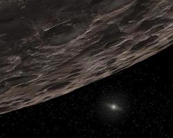 The Sun provides too feeble a glow for small objects in the distant Kuiper Belt to be observed directly (Artist's impression: NASA/JPL-Caltech/T Pyle-SSC)