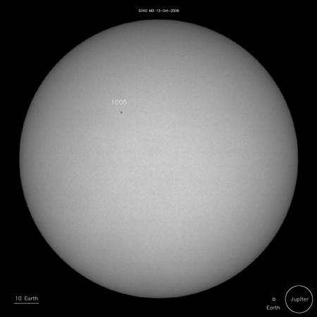 A new sunspot called 1005 appeared on Saturday, the third spot to appear in as many weeks
