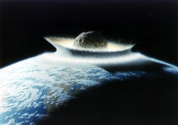 The impact of a space rock more than 100 km across would kill most - if not all - life on Earth (Illustration: Don Davis/NASA)