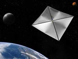 A solar sail about 19 times as wide as the Earth would be needed to move the planet out of harm's way when the Sun becomes a red giant (Illustration: NASA/MSFC)