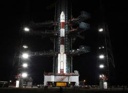 This Indian PSLV-C11 launch vehicle carried the nation's first Moon mission – Chandrayaan-1 – into space this morning. The craft will spend two years mapping the Moon's surface and also launch an impactor probe to kick up and analyse lunar dust