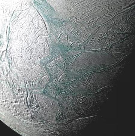 Saturn's moon Enceladus, captured here by NASA's Cassini probe, might harbour an underground ocean capable of sustaining life