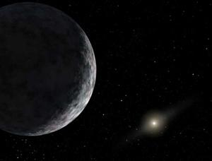 The dwarf planet Eris's icy surface may have changed in the last few years (Illustration: NASA/JPL-Caltech)