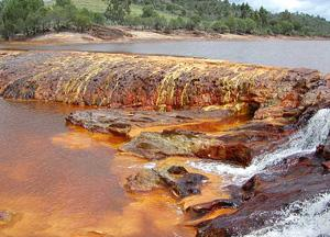 River bed stained with iron oxide (NASA/Wikimedia Commons)