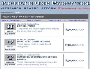 If you can find evidence these valuable patents are not original, thousands of dollars of rewards await you
