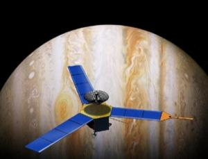 The Jupiter orbiter Juno will study the distribution of water in the gas giant and look for evidence of a solid core (Illustration: NASA/JPL)