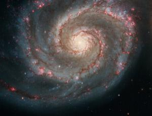 The Whirlpool Galaxy (M51, NGC 5194) is a classic spiral galaxy