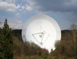 Astronomers observed the distant quasar using a 100-metre radio dish near Bad Münstereifel-Effelsberg, Germany