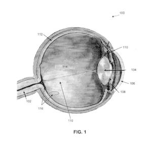 Microscopic specks of semiconductor material injected into the retina can make the image a person sees brighter, a new patent application claims