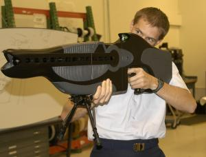 A modified version of this laser rifle created to dazzle enemies by the US Air Force has been adapted by the Department of Justice to inflict pain from a distance