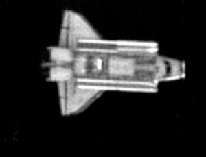 The US Air Force Maui Optical and Supercomputing Site (AMOS) took this image of the shuttle Columbia on 28 January 2003, four days before the shuttle broke apart re-entering the atmosphere