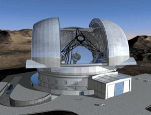 Artist's impression of the planned European Extremely Large Telescope