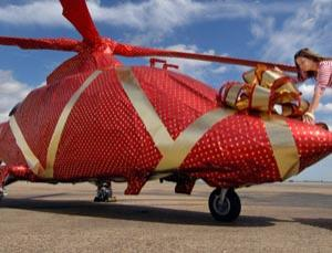 Wrapping one helicopter is easy. More than one and you run into trouble