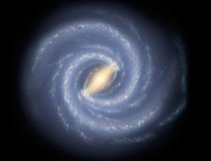 The Milky Way was recently upgraded to heavyweight status, with a mass some 3 trillion times the mass of the Sun (Illustration: NASA/JPL-Caltech)