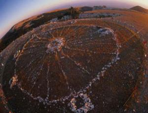 A 25-metre-wide oval arrangement of shoebox-sized stones in Wyoming, US, may be a 2000-year-old Native American monument