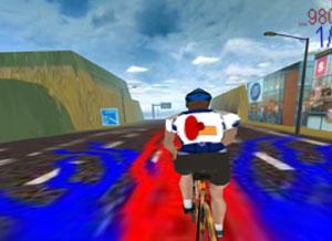 The rival team's logo in a cycling video game has been found to be off-putting to players days later