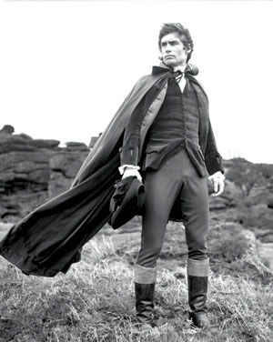 Timothy Dalton as Heathcliff in the 1970 film of Wuthering Heights. Heathcliff's personality reflects societal pressures