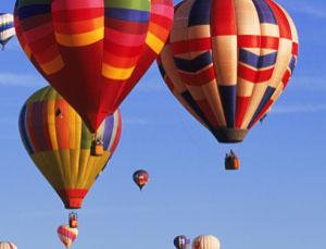 A giant engine with a tethered balloon for a