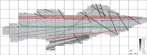 Gorka's team's interpretation of the PP01-36 geoglyph complex