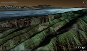 Google Earth can now provide a detailed 3D view of features both above and below water, as this view of part of Hawaii shows