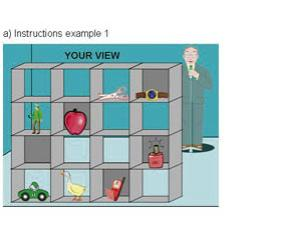 Instructions example: player's view