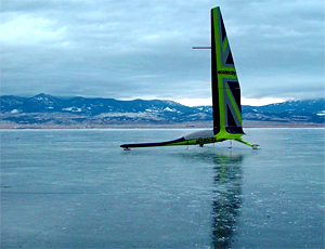 Greenbird is a land and ice yacht designed to break the world landspeed records - click the like in the text, right, to see more shortlisted designs
