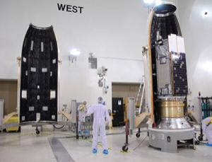 The Orbiting Carbon Observatory's protective fairing - shown here as it was about to be fitted to the spacecraft at Vandenberg Air Force Base in California - failed to separate a few minutes after lift-off. That prevented the satellite from reaching orbit and caused it to crash into the ocean